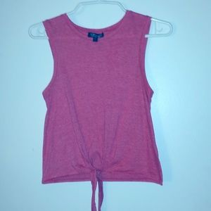 Cropped Tie-Front Tee